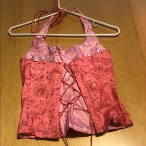 Blondie Nites Dresses - Formal 2 piece halter dress